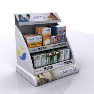 Дисплей для лекарств - предназначен для продвижения и выкладки продукции в местах продаж