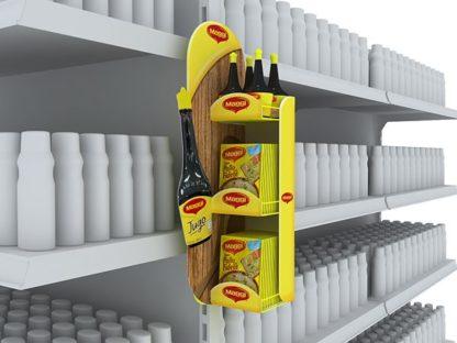 Дисплей-паразит для приправ - предназначен для крепления на стационарное торговое оборудование и выкладки товара