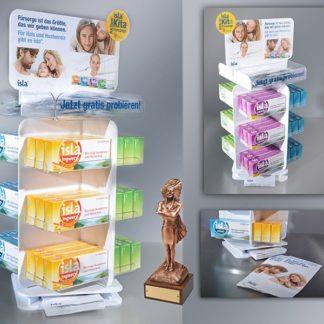 Настольный вращающийся дисплей для лекарств - предназначен для продвижения и выкладки продукции в местах продаж