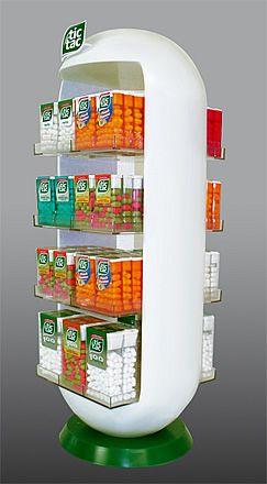 Настольный дисплей для конфет - предназначен для продвижения и выкладки товара в местах продаж