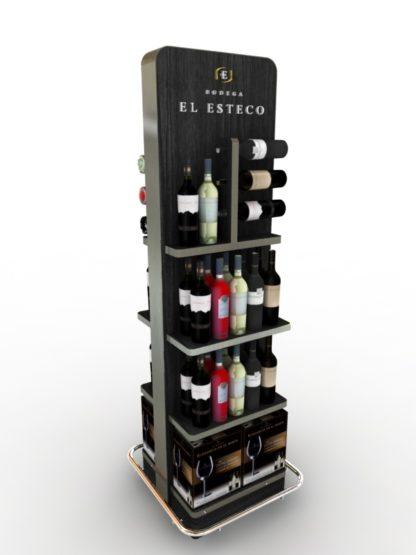 Рекламная стойка для вина - предназначена для продвижения и выкладки товара в местах продаж