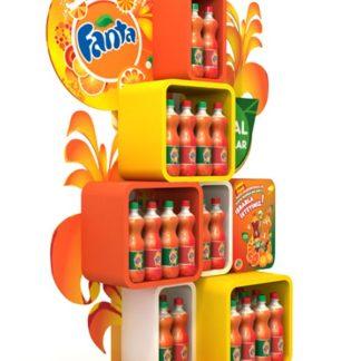 Рекламная стойка для газированных напитков - предназначена для продвижения выкладки товара в местах продаж