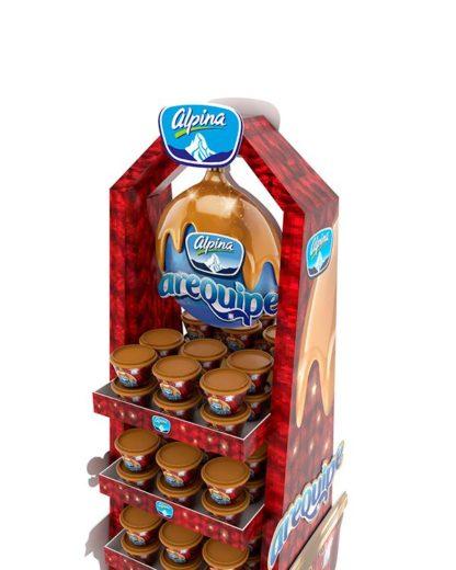 Рекламная стойка для десертов - предназначена для продвижения и выкладки товара в местах продаж