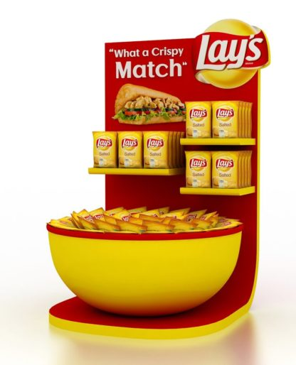 Рекламная стойка для чипсов - предназначена для продвижения и выкладки товара в местах продаж