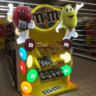 Рекламный стеллаж для конфет - предназначен для продвижения и выкладки товара в местах продаж