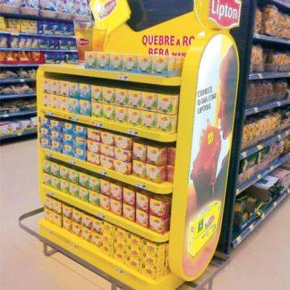 Рекламный стеллаж для чая - предназначен для продвижения и выкладки товара в местах продаж
