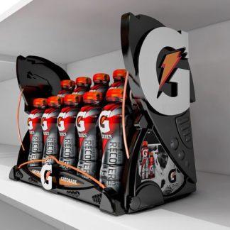 Шелфорганайзер для газированных напитков - предназначен для группировки и демонстрации товара на полках