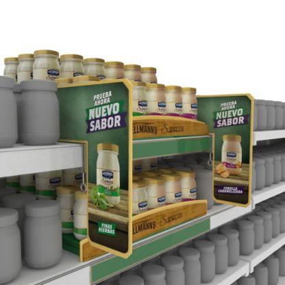 Шелфсистема для соусов - комплект шелфтокеров и шелфстоперов для привлечения потребителя и выделения товаров на полках