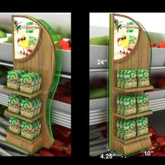 Дисплей-паразит для приправ - предназначен для крепления на стационарное торговое обрудование и выкладки товара