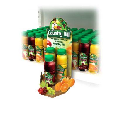 Дисплей-паразит для соков - предназначен для крепления на стационарное торговое обрудование и презентации продукции