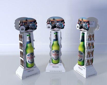 Рекламная стойка для пива - предназначена для продвижения и выкладки продукции в местах продаж