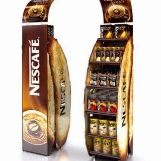 Рекламная стойка для кофе - предназначена для продвижения и выкладки товара в местах продаж