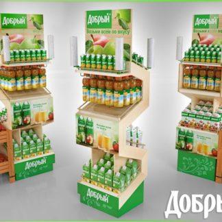Рекламная стойка для соков - предназначена для продвижения и выкладки товара в местах продаж