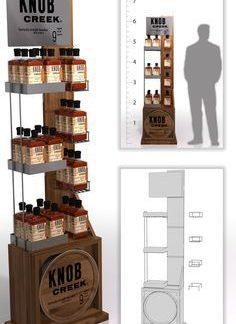 Рекламная стойка для виски - предназначена для продвижения и выкладки товара в местах продаж