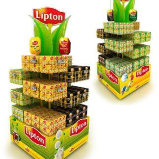 Рекламная стойка для чая - предназначена для продвижения и выкладки товара в местах продаж