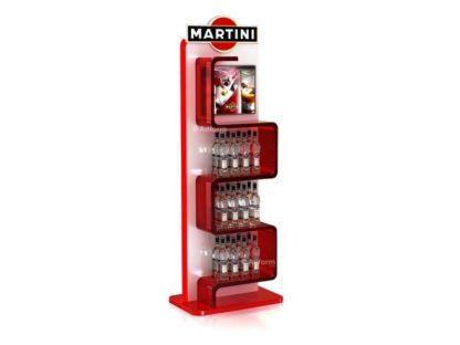 Рекламная стойка для мартини - предназначена для продвижения и выкладки товара в местах продаж