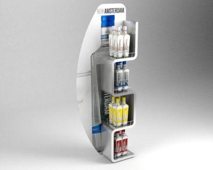 Рекламная стойка для водки - предназначена для продвижения и выкладки товара в местах продаж